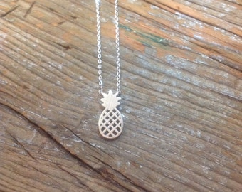 Silver Pineapple charm necklace