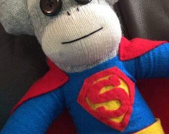 Superman Sock Monkey