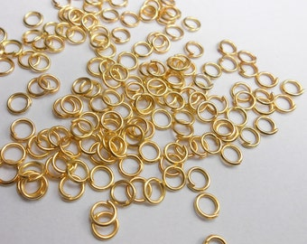 100 pc 18K Gold Plated Jump Rings 3mm | 264-Au