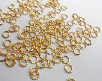 25 pc 18K Gold Plated Jump Rings 3mm | 264-Au