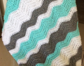 All Colours - Ripple Effect Blanket - 30inx30in