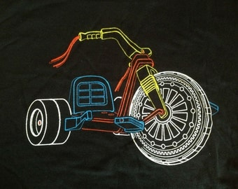 Big wheel (tricycle) - women's V neck