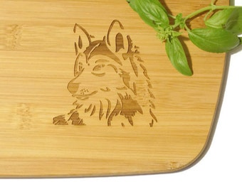 Bible verse on wood, Inspiring gifts, Religious decor, Christian Kitchen decor, Isaiah, Engraved wolf bamboo cutting board, cottage kitchen