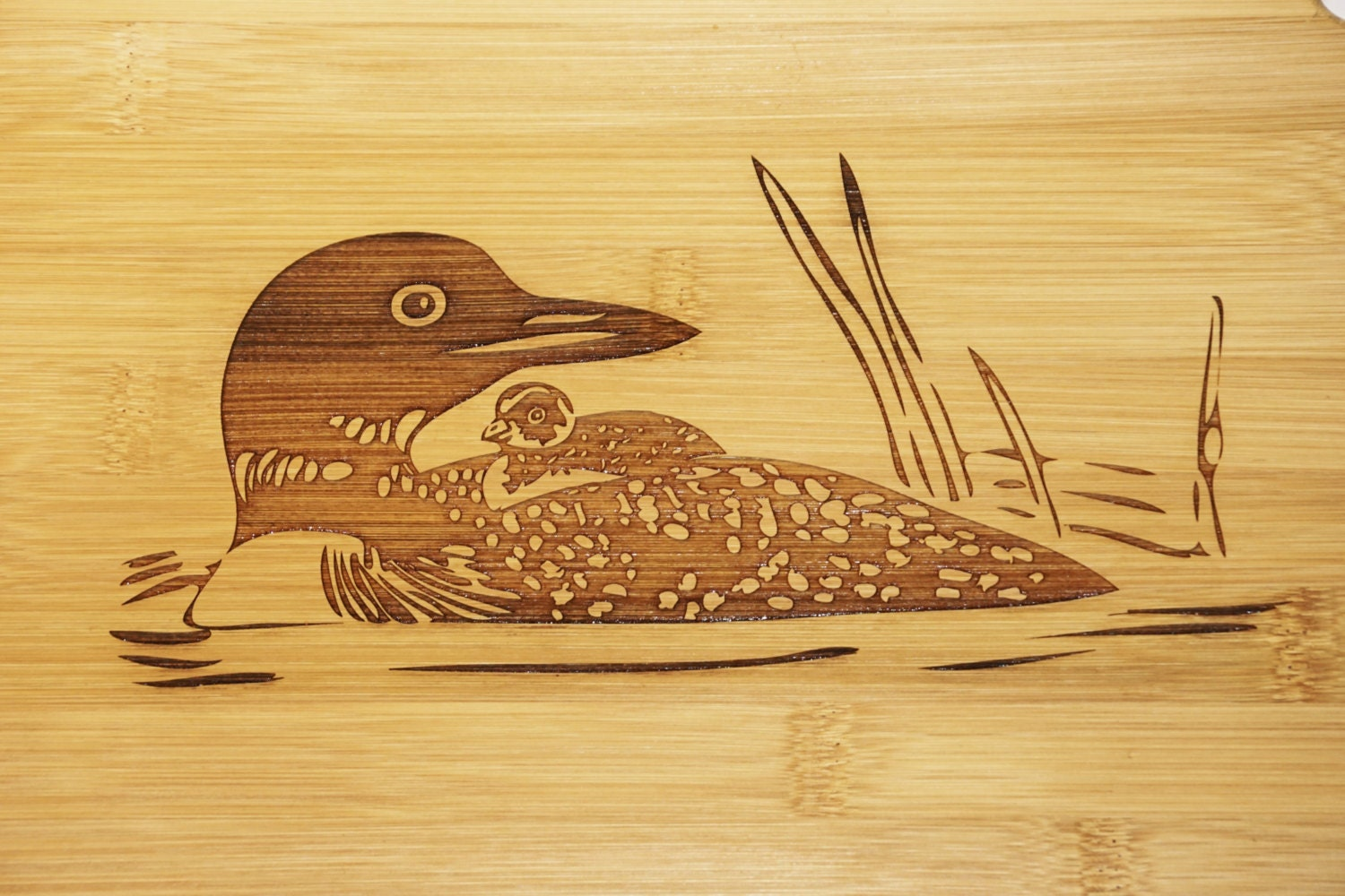 loon cutting board loon decor loon home decor lake house