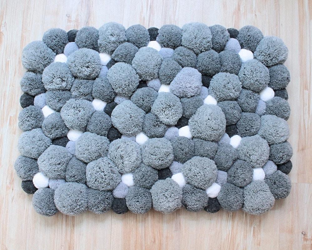 pom pom rug bathroom rug bath mat home gift modern soft. Black Bedroom Furniture Sets. Home Design Ideas
