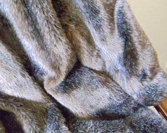 Vintage Russian Reversible Maxi Faux Mink Fur Coat, XL Women Reversible Coat, Custom Made Winter Coat, Long Cold Season Coat, 1990s'