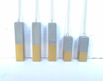 Concrete Bar Necklace