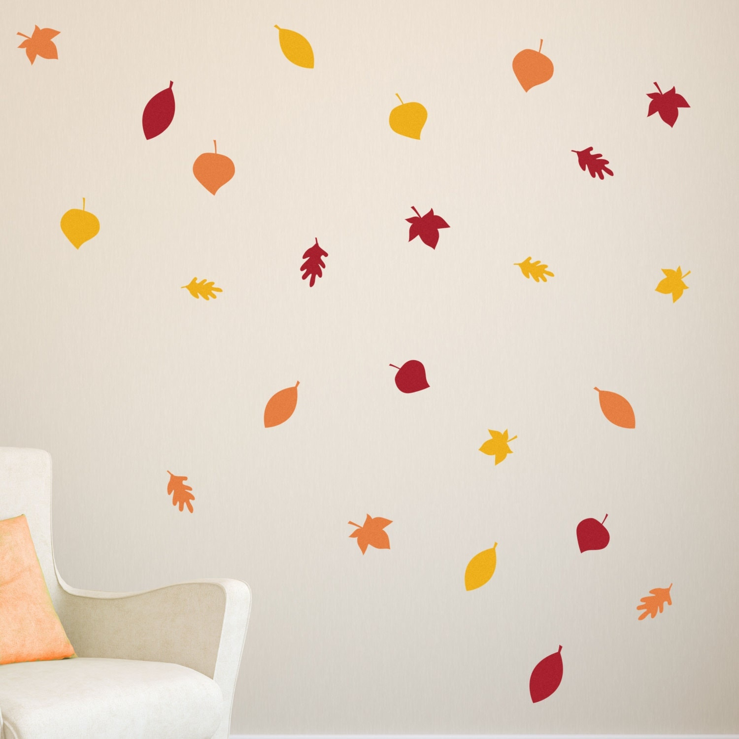 24 Pc Fall Leaves Wall Decals Autumn Leaves Decals Fall