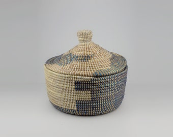 Blue woven basket