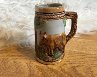 Small Decorative Ceramic Tankard Stein