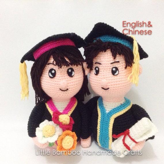 PATTERN - Graduation Couple - Crochet Pattern, pdf from ...