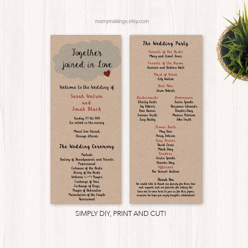 Cheap Wedding Programs: Programs For Wedding Custom Programs Custom Cheap By
