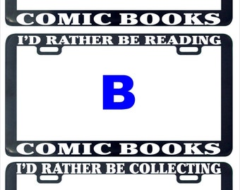 Comic book books assorted license plate frame