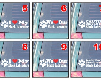 Black Labrador dog dogs live love bark proud happiness hug co-pilot rescue smarter funny assorted decal sticker