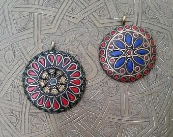 Afghan Stone Beaded Pendant