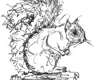 Squirrel in Ink, Naturally