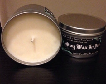Unscented 16 oz soy candle