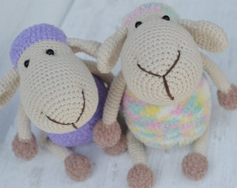 Crochet Stuffed Sheep Plush Crochet Sheep Stuffed Crochet Sheep Toy Crochet Toy Sheep Baby Gift