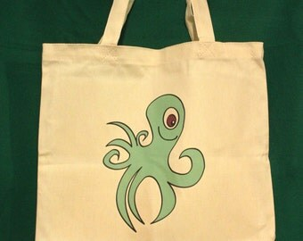 Octopus tote bag | Etsy