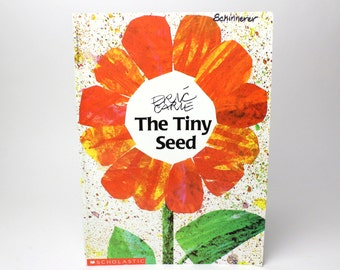 Vintage Eric Carle's The Tiny Seed Book - 1987 Scholastic Inc. - Flower Life Cycle Plants Seasons Paperback