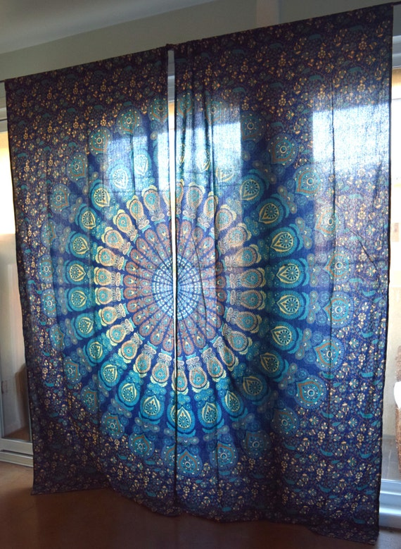 Mandala Tapestry Curtains Boho Curtains Tapestry Drapes