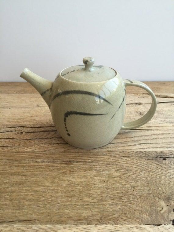 Unique Celadon Gas Fired Teapot Pottery Teapot Collectible
