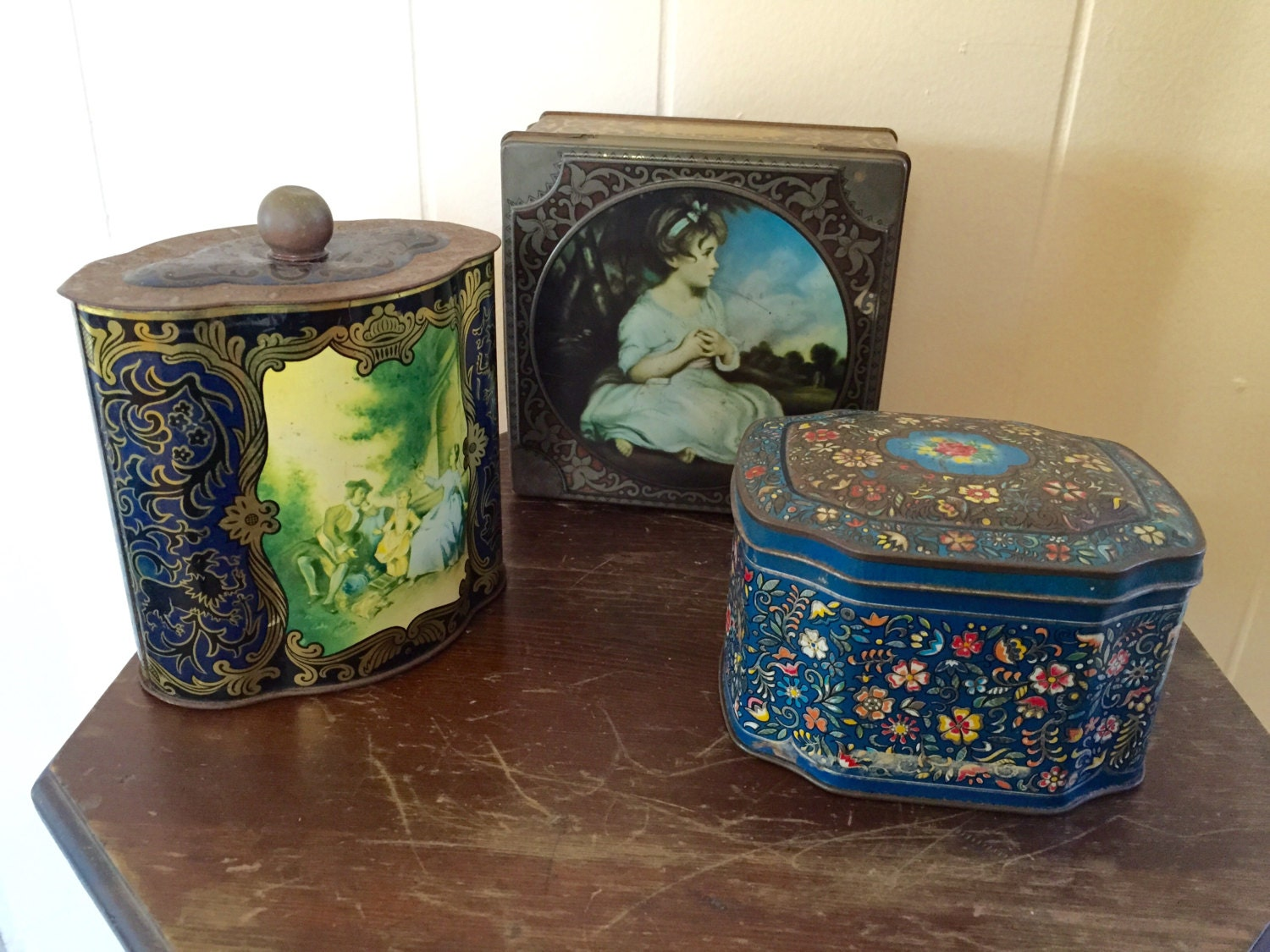 decorative metal tins vintage tins candy tins metal tins