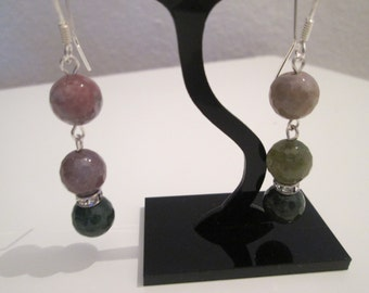 Indian agate earrings