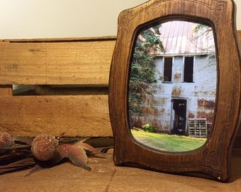Barn Photograph Framed in Recycled Wood Frame