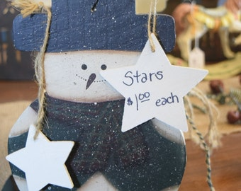 Customize your own Wooden Star Ornament