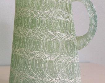 "Vintage ""Spaghetti String"" Pitcher Green"