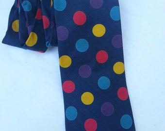 Silk tie, mens ties, Poka Dot, accessories, mens accessories
