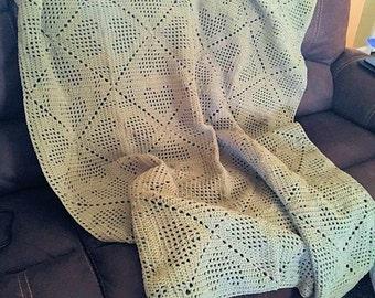 Crochet Afghan - Double Heart Pattern