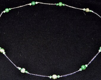 Moss Agate Sterling Necklace
