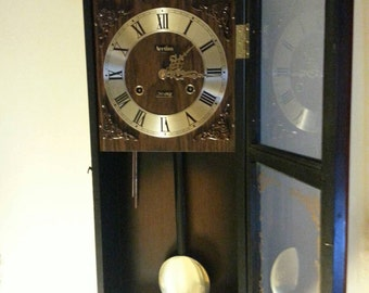 1980's Acctim 30 day chiming clock
