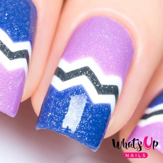 Skinny Zig Zag Tape For Nail Art Chevron Stickers For Nails