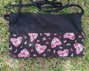 Breast Cancer Waitress/Vendor/Gardening/Teacher Apron