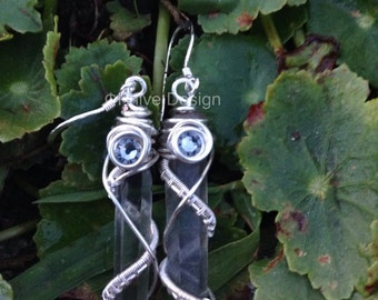 Wire Wrapped Smokey Quartz Earrings