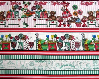 Gum Drops and Lollipops Fabric Panel From Quilting Treasures