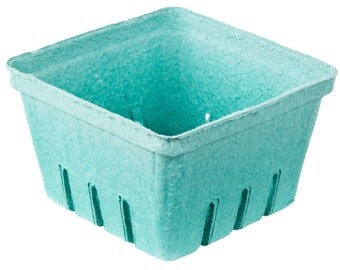 12 Quart Berry Baskets, Biodegradable Paper Pulp Basket, Wedding Favor Basket, Farm Theme Party Favor, Spring Favor Basket