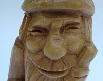 German wood carving, mountain wanderer (161031)
