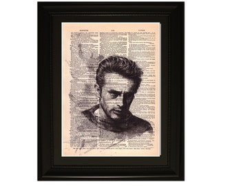"""James"""".Dictionary Art Print. Vintage Upcycled Antique Book Page. Fits 8""""x10"""" frame"""