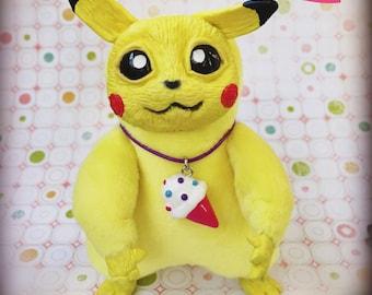 Pokemon Picachu. Soft clay plush toy. Yellow pokemongo