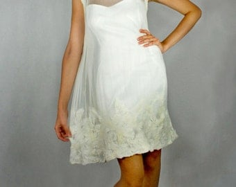 White felted dress for wedding