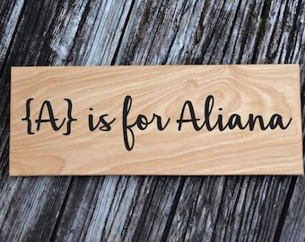 Personalized Kids Room Sign, Baby's Room, Nursery. Name Announcement, Baby Shower Decor or Gift. Solid Wood, Hand Painted 1-sided- Any Name!