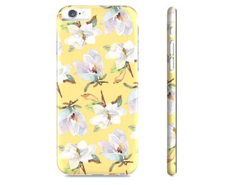 iPhone 6 Case - iPhone 5 Case - Magnolia iPhone Case - Watercolor Magnolia iPhone Case - Yellow Floral iPhone 6 Case - Samsung Galaxy Case