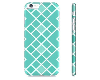 Teal Geometric iPhone Case - Turquoise Phone Case - Geometric iPhone 6 Case - Geometric iPhone Case - The Mad Case