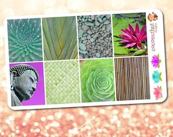 Zen / Meditation / Yoga Theme Full Box Planner Stickers