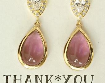 Eggplant Bridesmaid Earrings, Eggplant Wedding Earrings, Purple Eggplant Bridal Jewelry, Plum Earring, Set of 3, 4, 5, 6, earrings, ES1