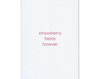 Music postcard strawberry fields forever